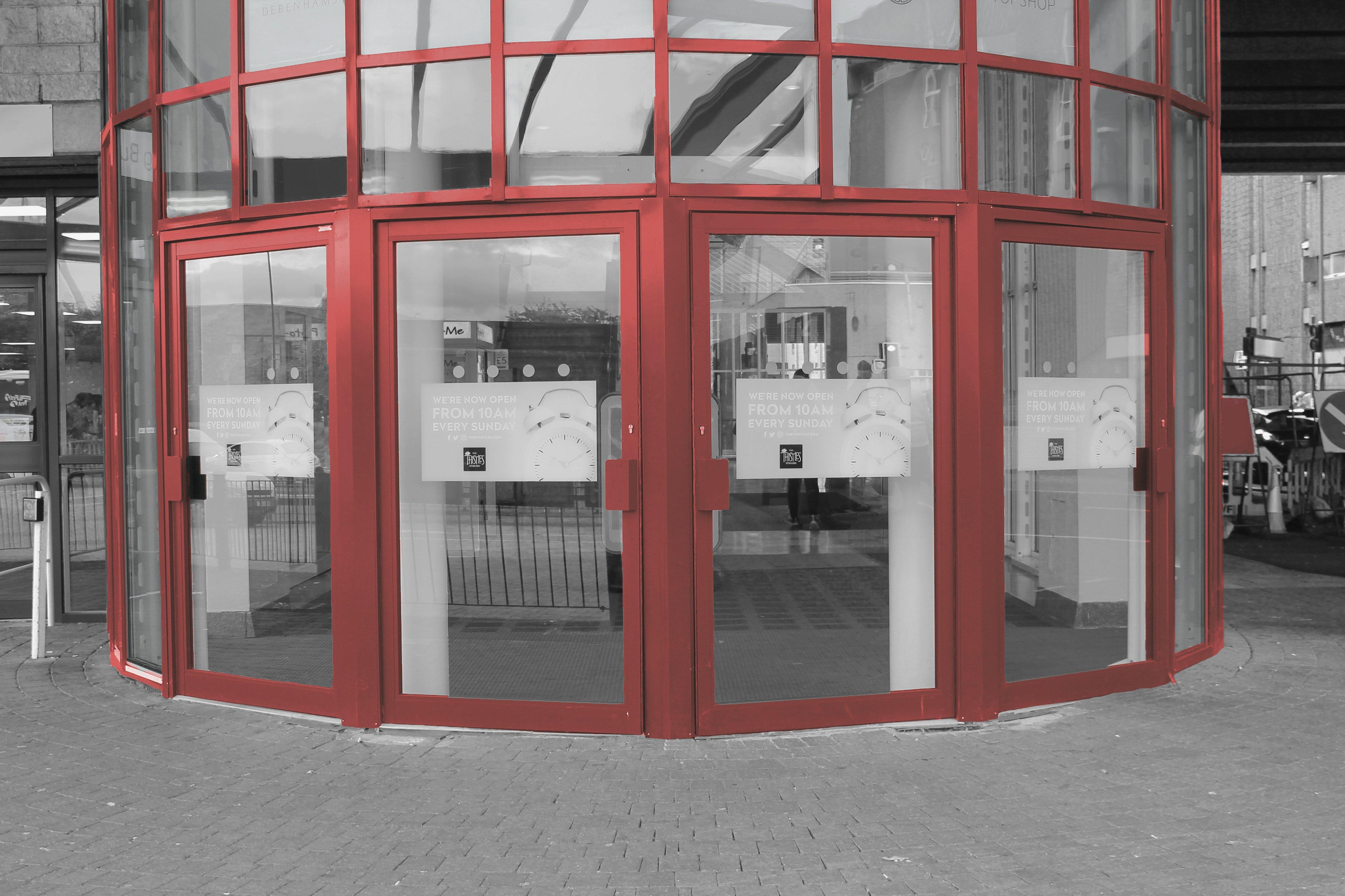 Aluminium Shop Front Doors by EAS