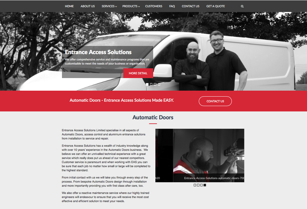 Entrance Access Solutions New Website