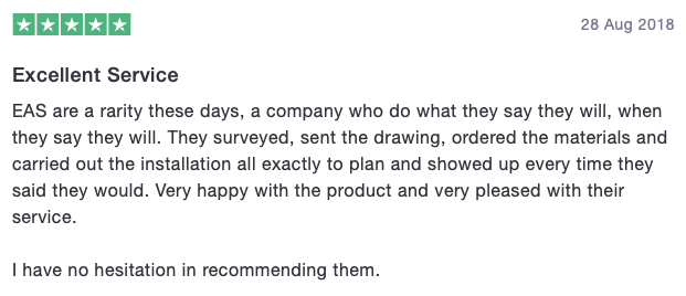 Customer testimonial EAS 4